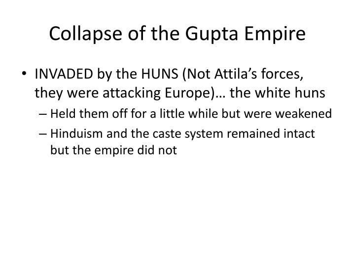Collapse of the Gupta Empire