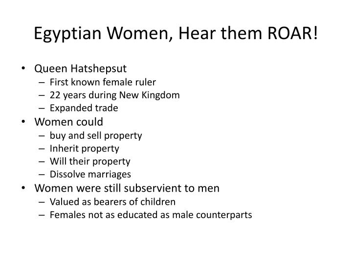 Egyptian Women, Hear them ROAR!