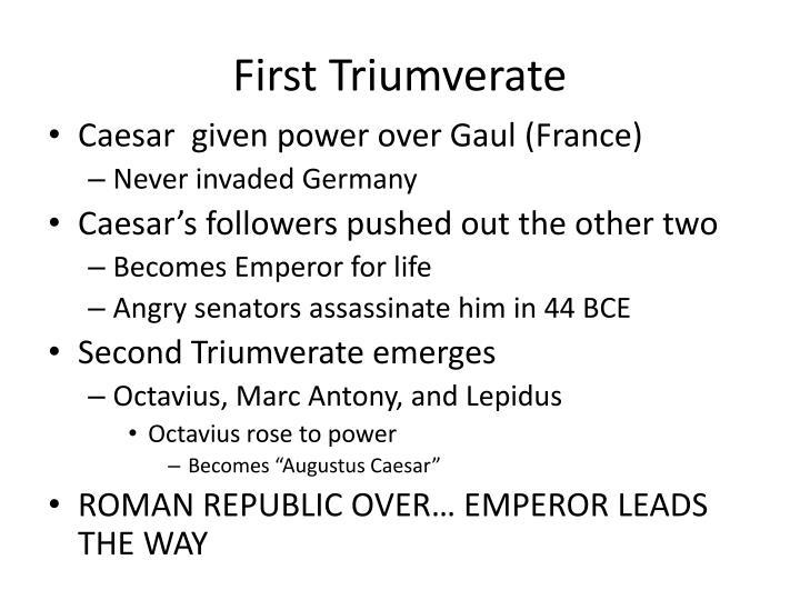 First Triumverate