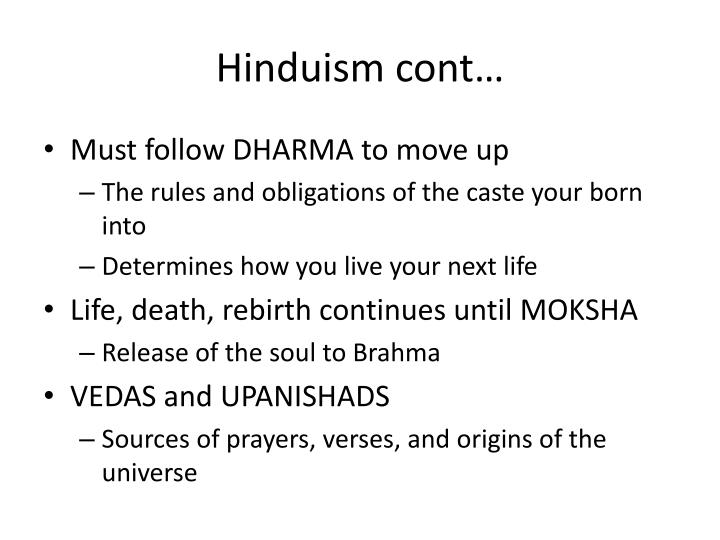 Hinduism cont…