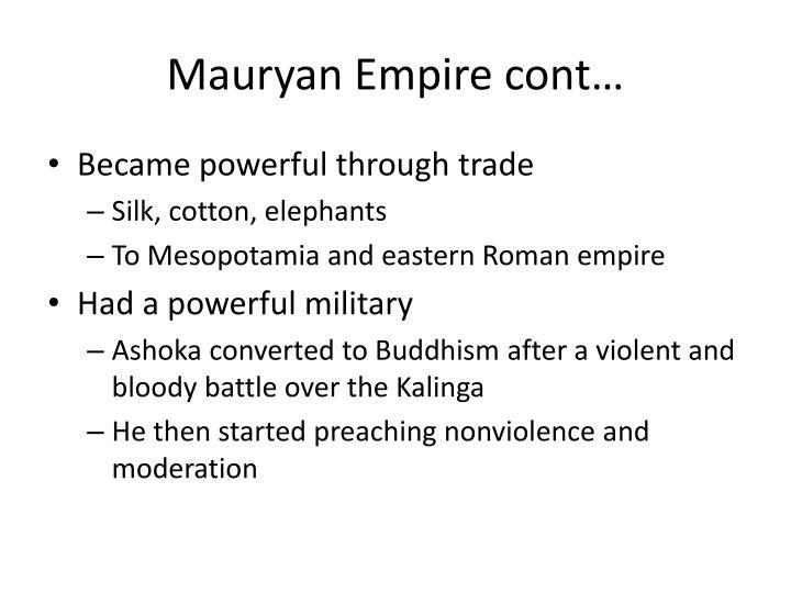 Mauryan Empire cont…