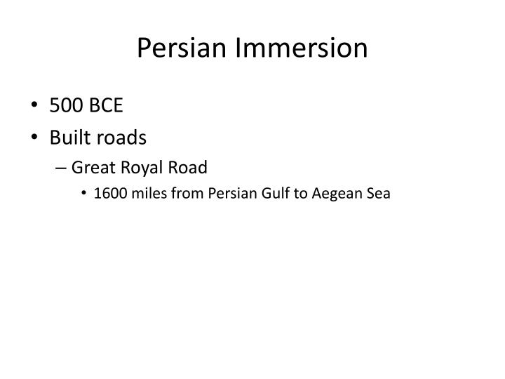 Persian Immersion
