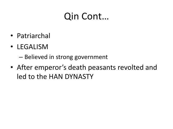 Qin Cont…