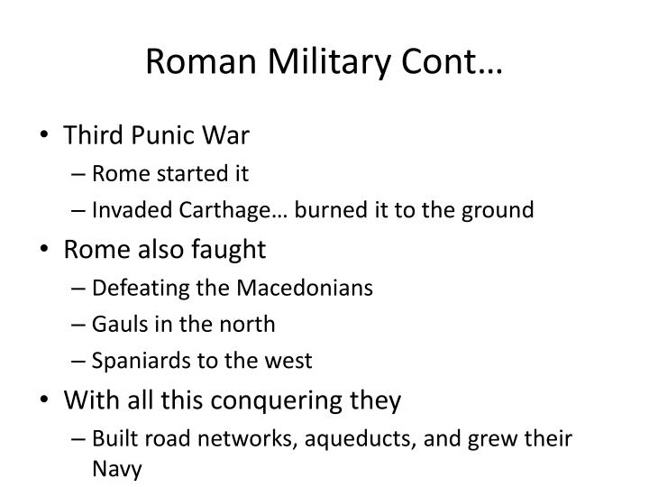 Roman Military Cont…