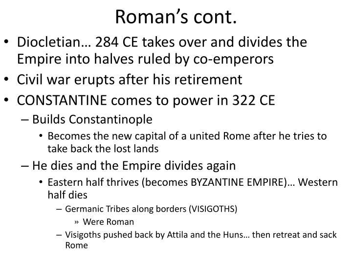 Roman's cont.