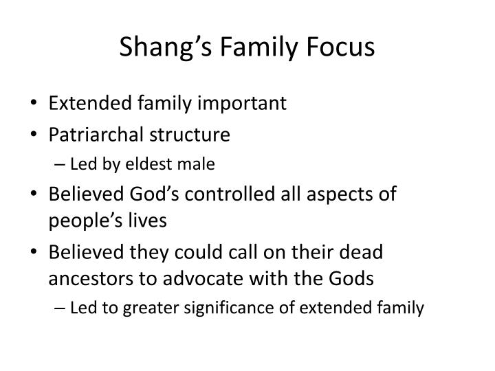 Shang's Family Focus