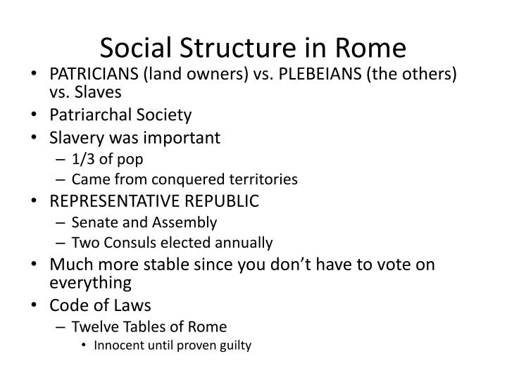 Social Structure in Rome