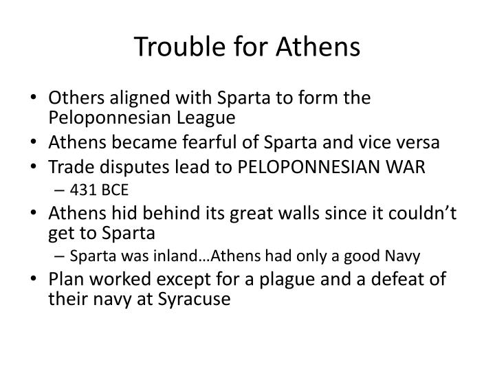 Trouble for Athens