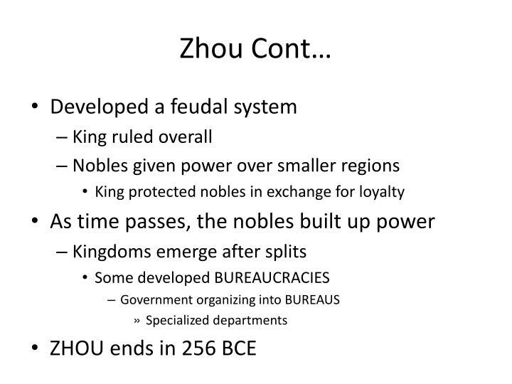 Zhou Cont…