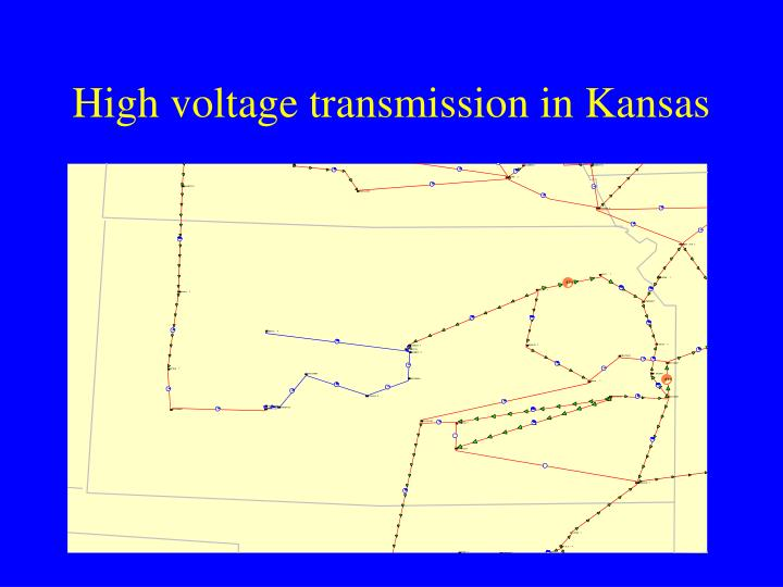 High voltage transmission in Kansas