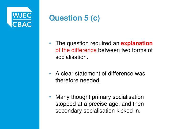Question 5 (c)