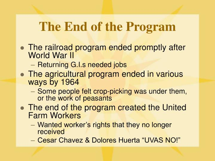 The End of the Program