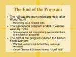 the end of the program1
