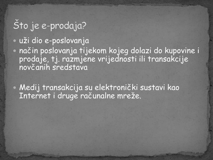 Što je e-prodaja?