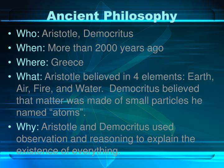 Ancient Philosophy