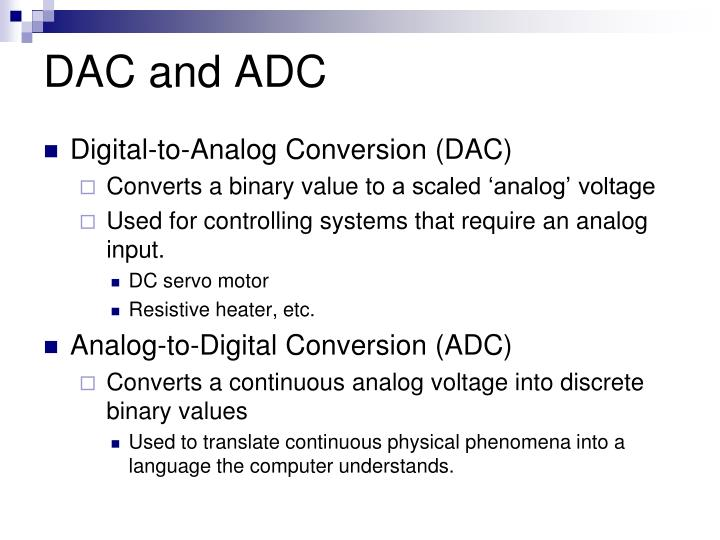 DAC and ADC