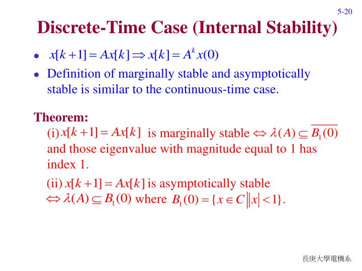 Discrete-Time Case (Internal Stability)