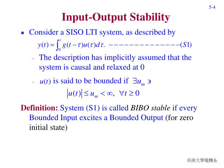 Input-Output Stability