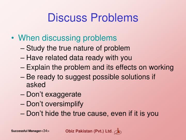Discuss Problems