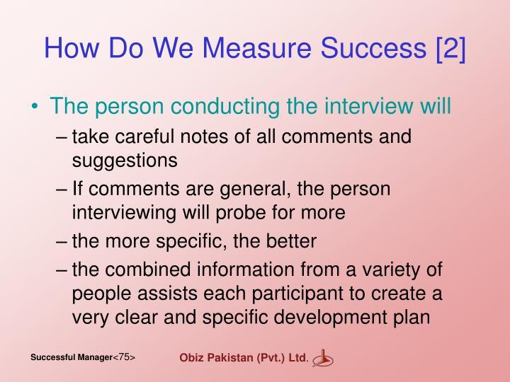 How Do We Measure Success [2]