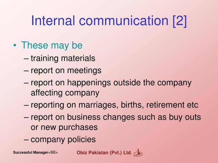 Internal communication [2]