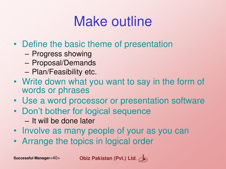 Make outline