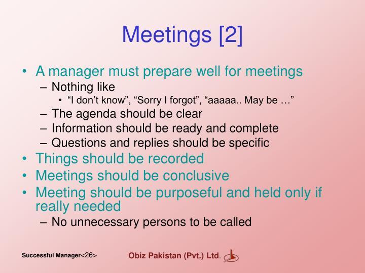 Meetings [2]