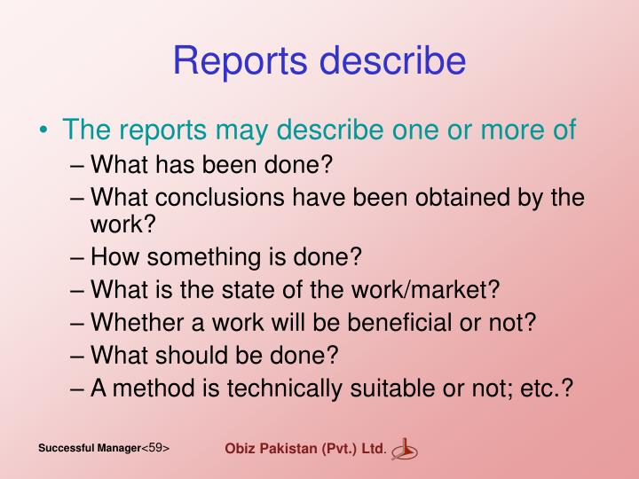 Reports describe