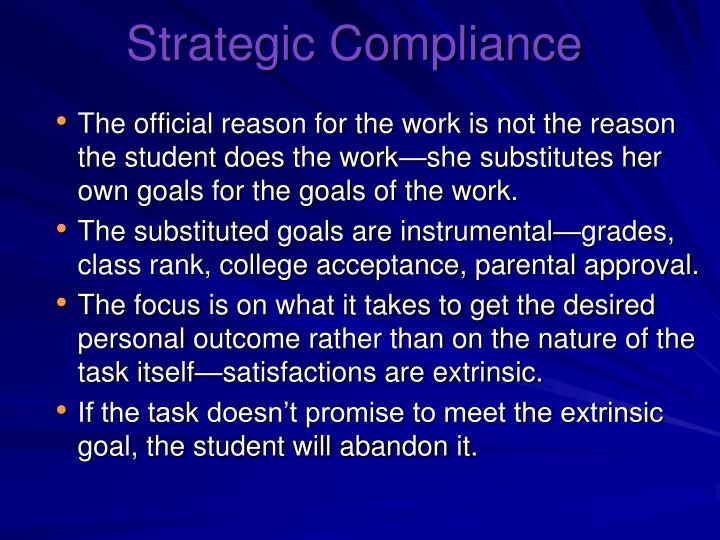 Strategic Compliance