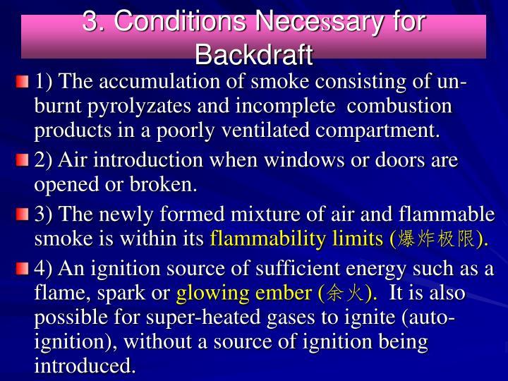 3. Conditions Nece