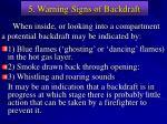 5 warning signs of backdraft