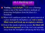 6 1 venting