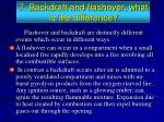 7 backdraft and flashover what is the difference