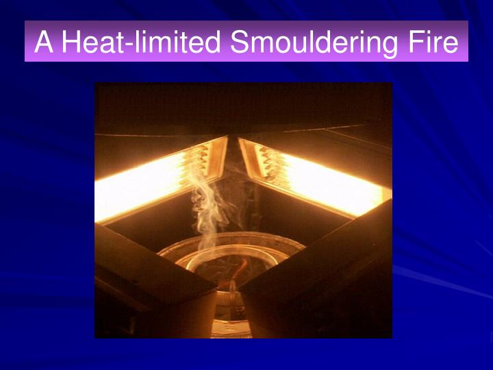 A Heat-limited Smouldering Fire