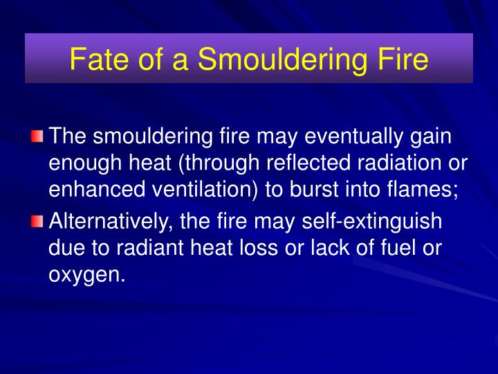 Fate of a Smouldering Fire