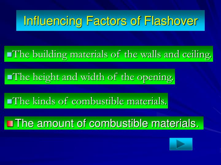 Influencing Factors of Flashover
