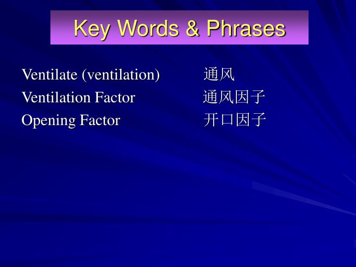 Key words phrases1