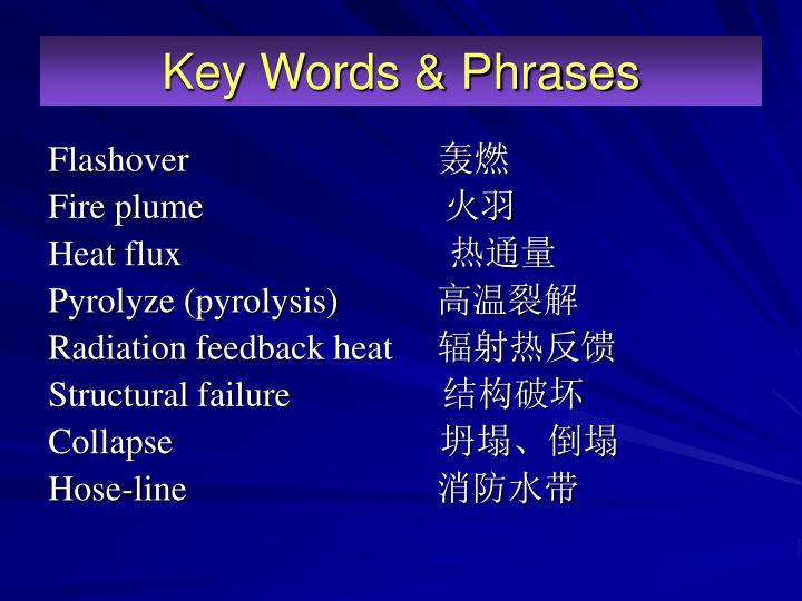 Key Words & Phrases