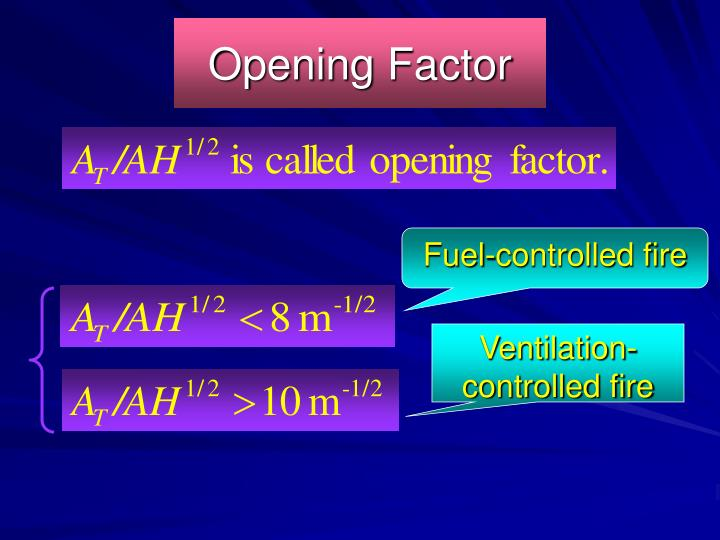 Opening Factor