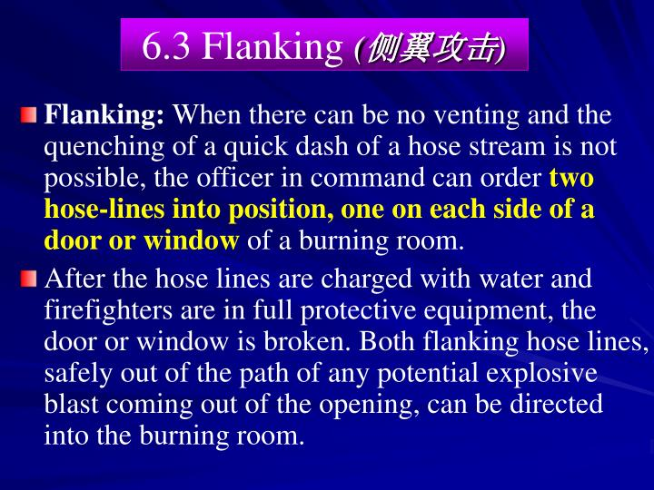 6.3 Flanking