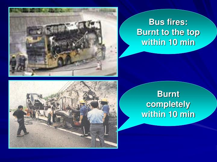 Bus fires: