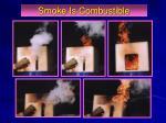 smoke is combustible