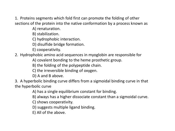 1.  Proteins