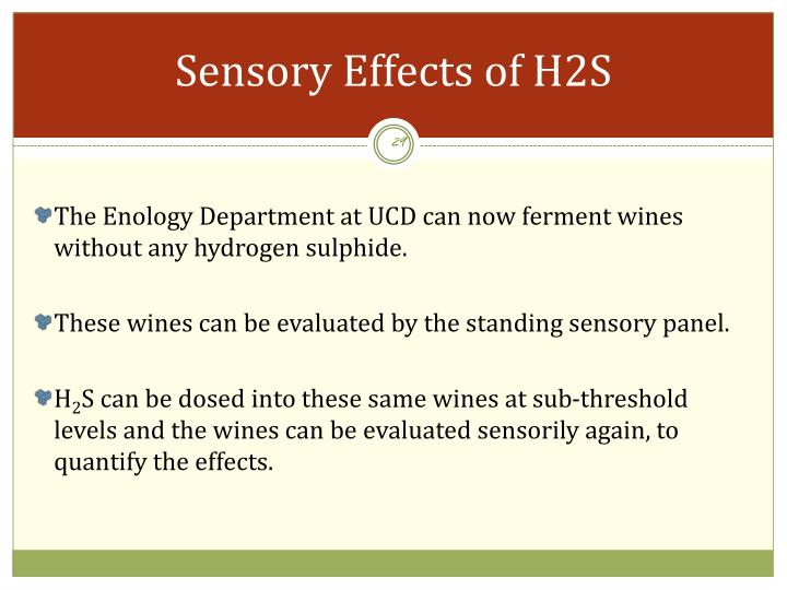 Sensory Effects of H2S