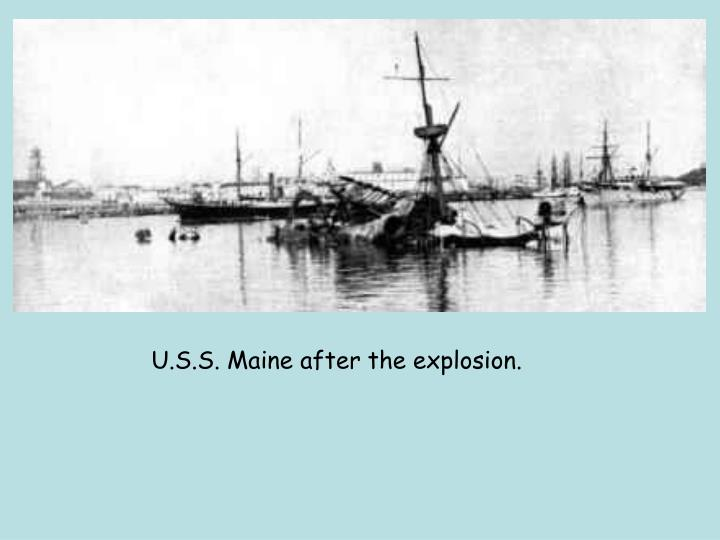 U.S.S. Maine after the explosion.