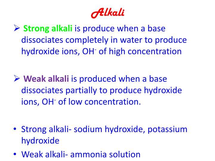 Alkali