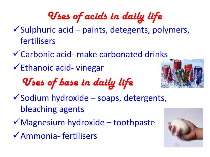 Uses of acids in daily life