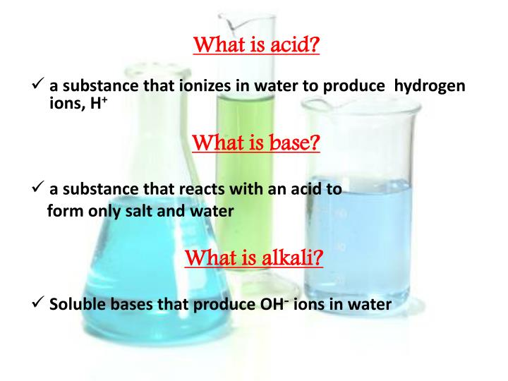 What is acid?