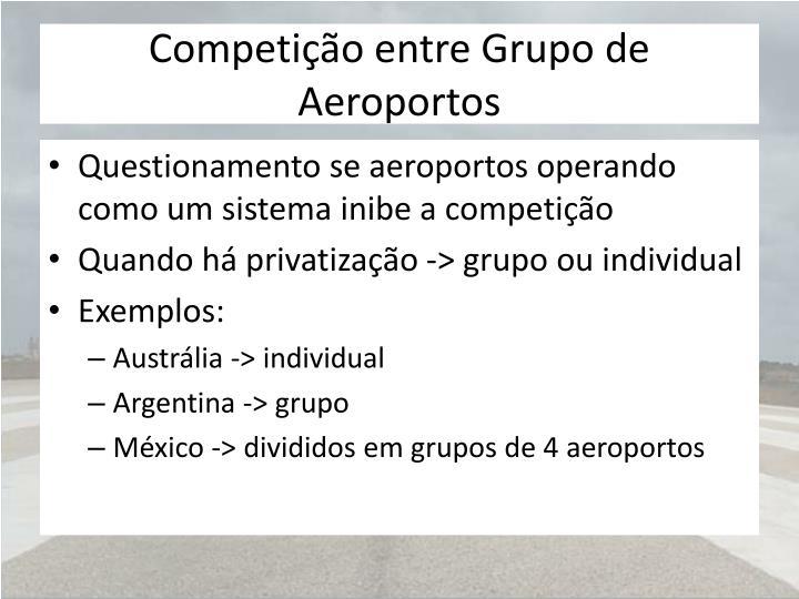 Competição entre Grupo de Aeroportos