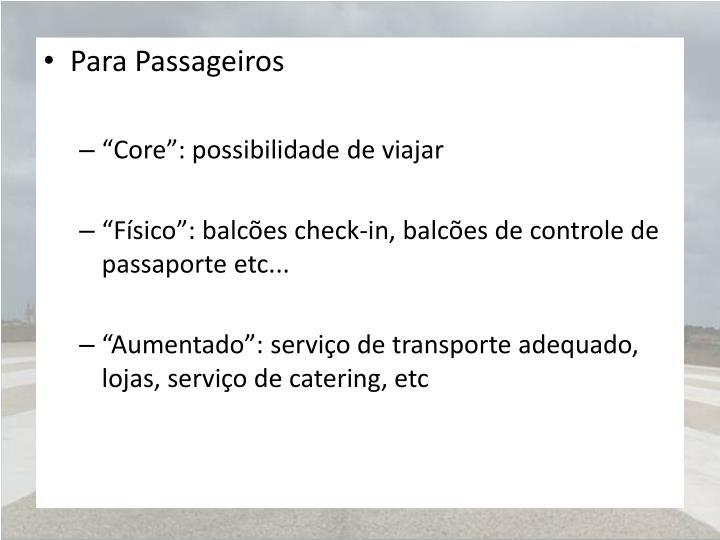 Para Passageiros